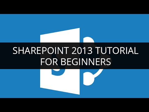 sharepoint tutorial for beginners