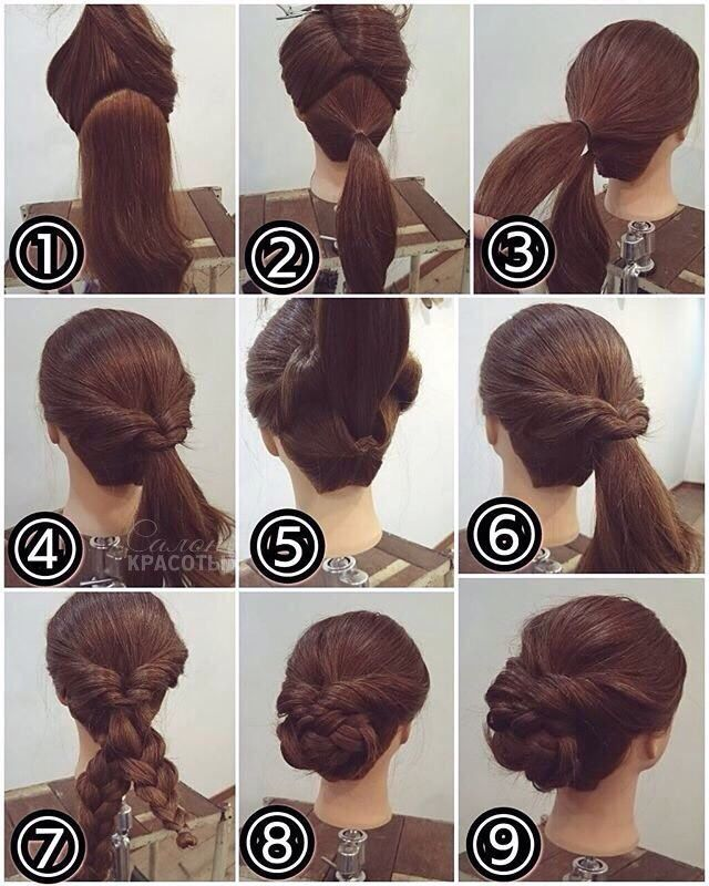 short hair chignon tutorial