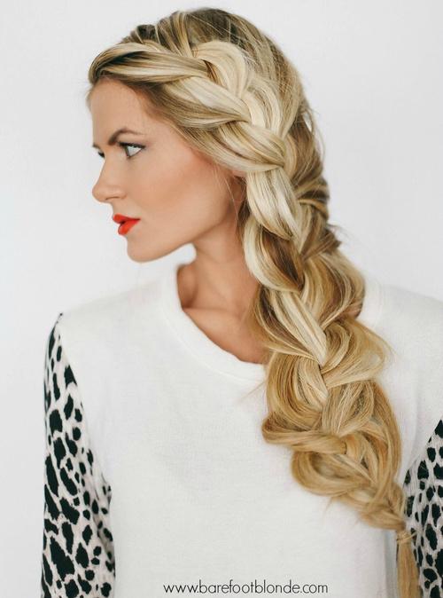 side braid tutorial short hair