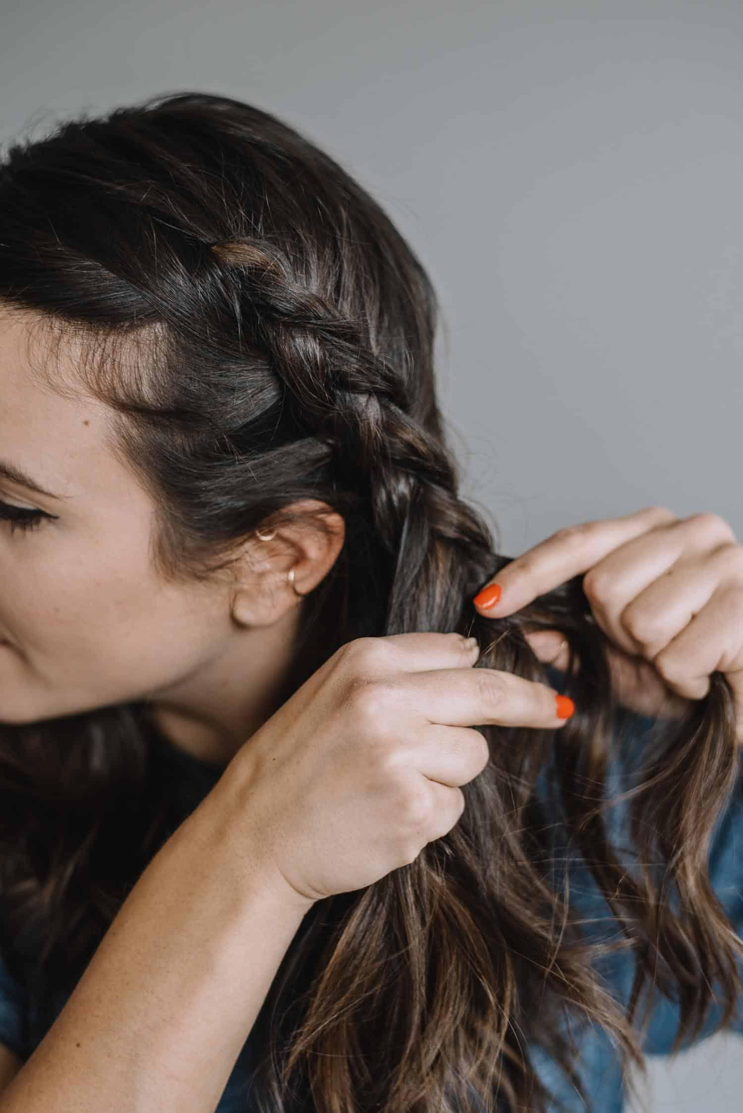 side head braid tutorial