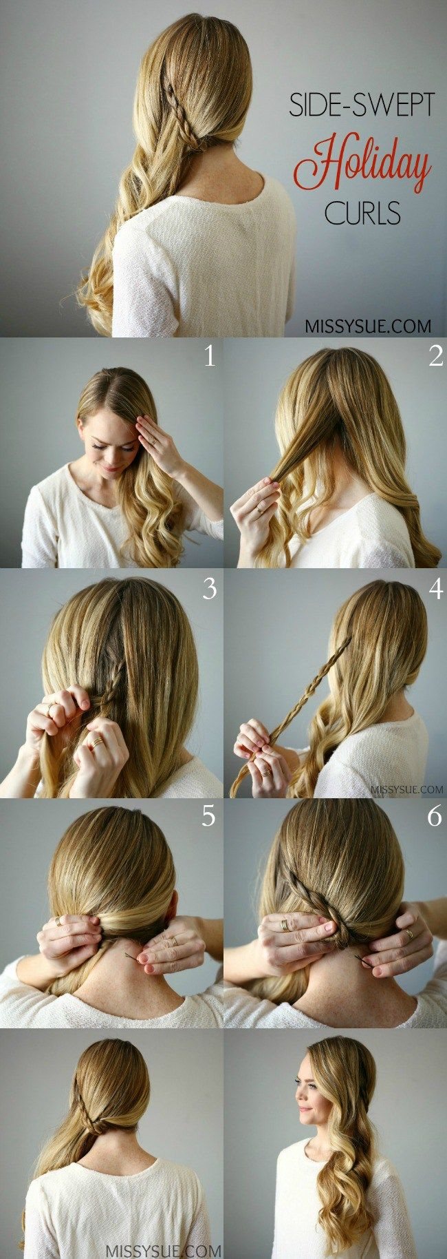 side swept prom hair tutorial