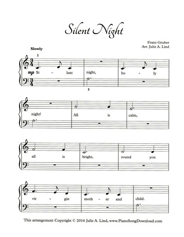 silent night piano tutorial