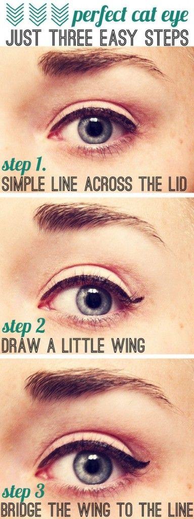simple cat eye makeup tutorial