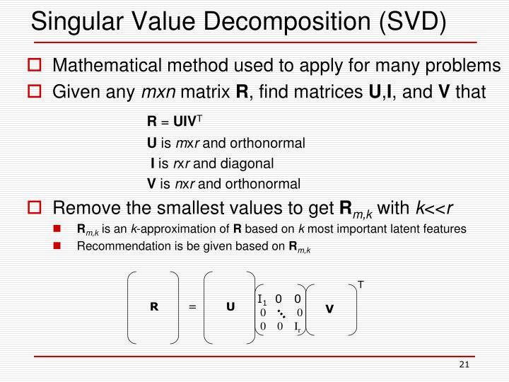 singular value decomposition tutorial