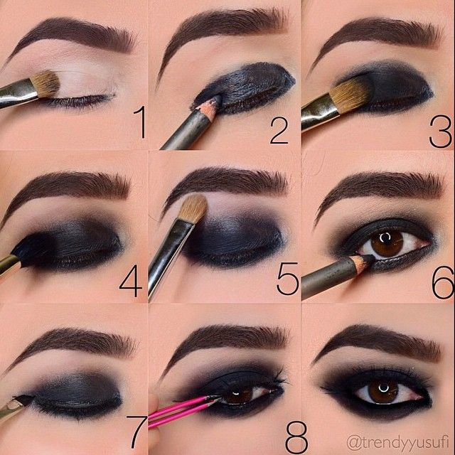 smokey black eyeshadow tutorial