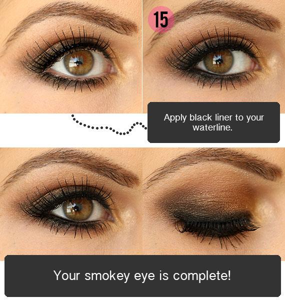 smokey eye for dark brown eyes tutorial