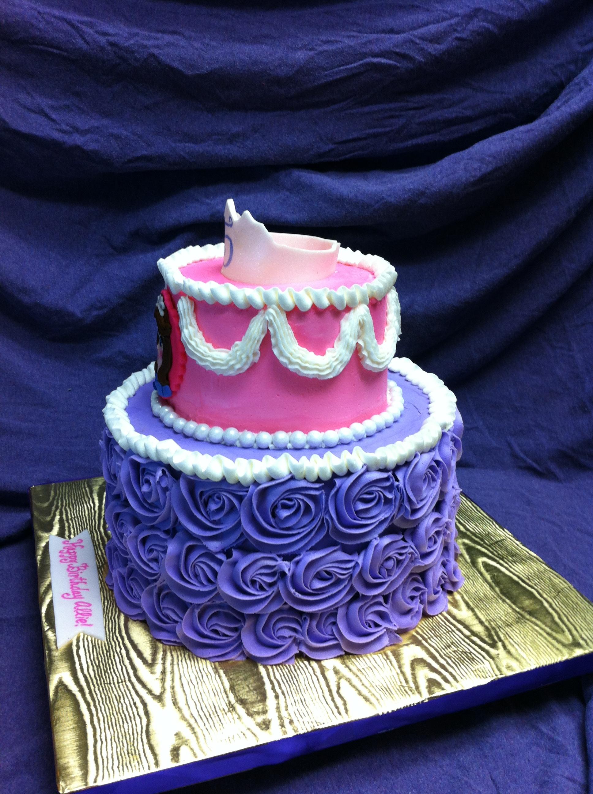 sofia the first cake tutorial