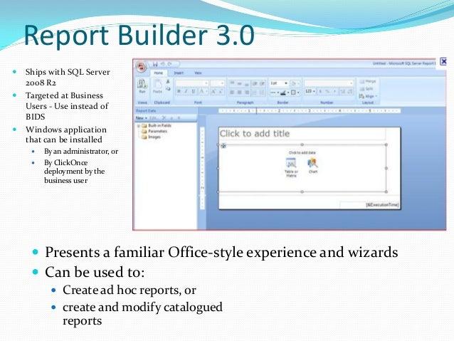 sql report builder 3.0 tutorial