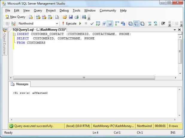 sql server commands tutorial