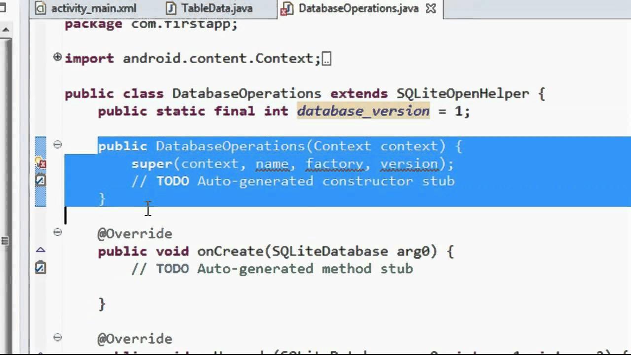 sqlite android studio tutorial