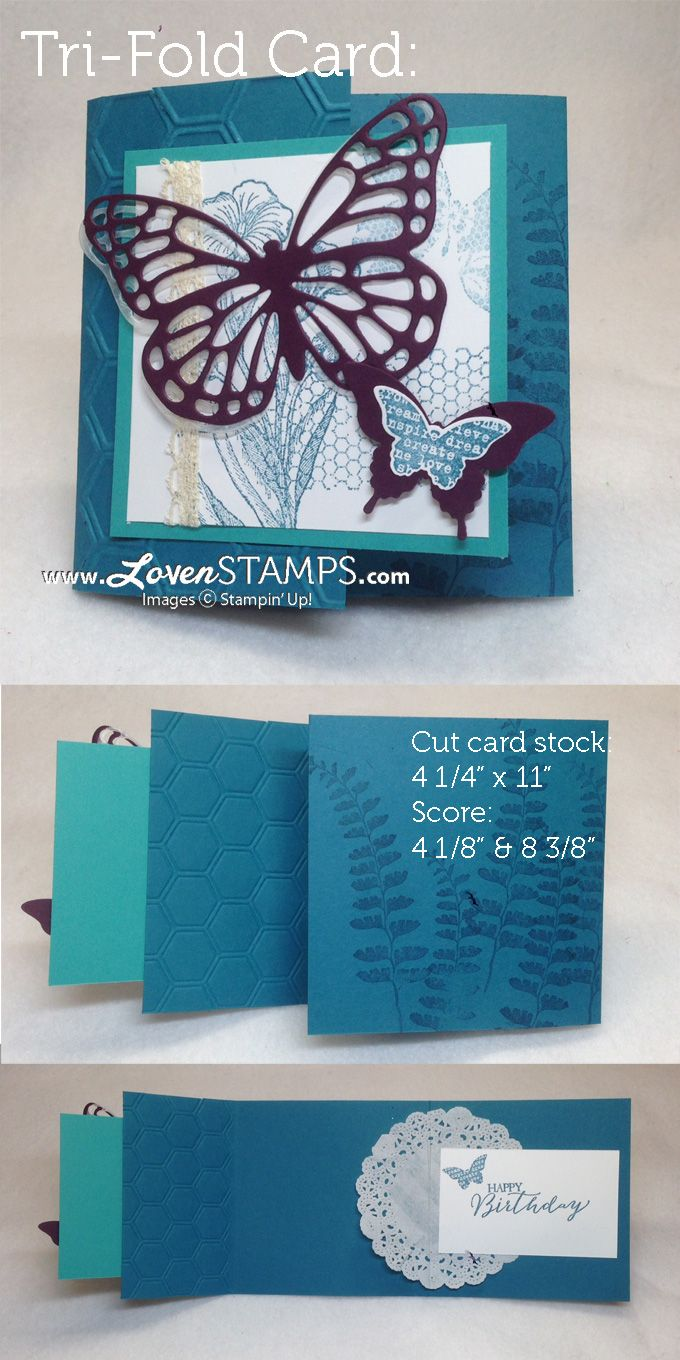stampin up z fold card tutorial