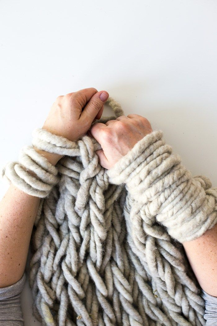 step by step arm knitting tutorial