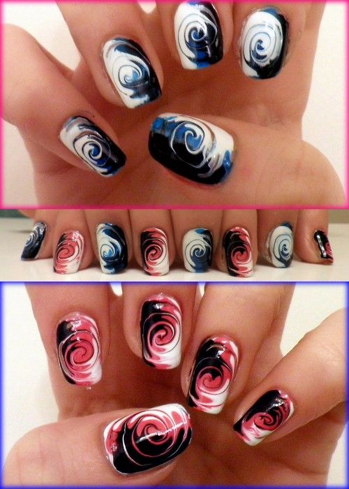 swirl nail polish tutorial
