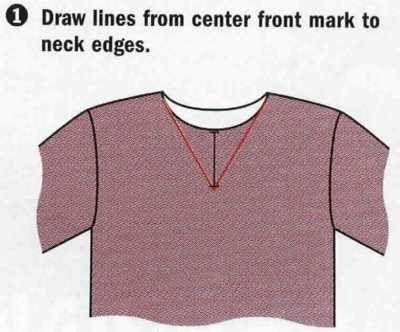 t shirt neckline tutorial