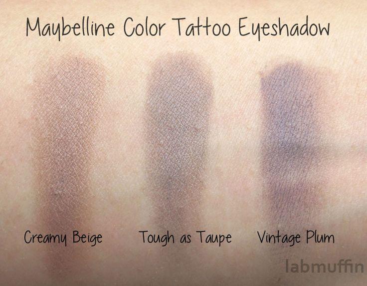 tattoo eyeshadow maybelline tutorial