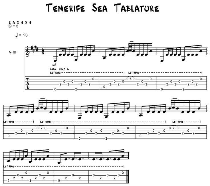 tenerife sea guitar tutorial