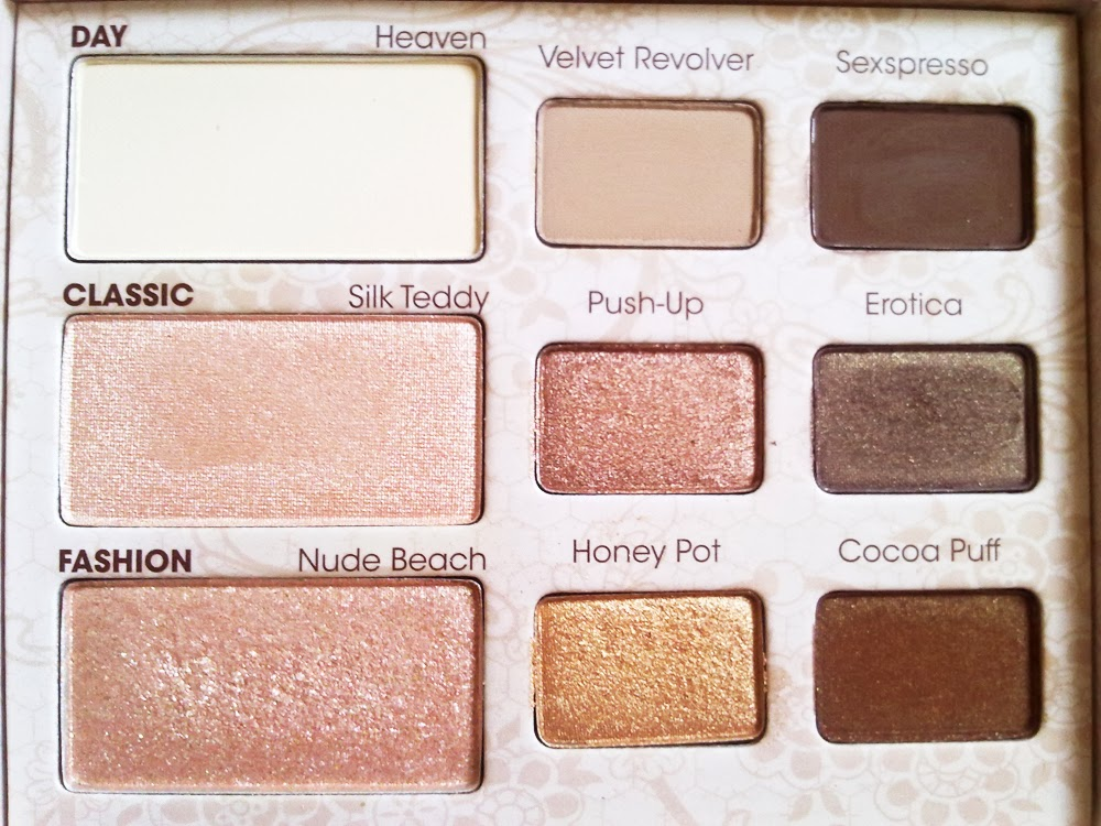 too faced natural palette tutorial
