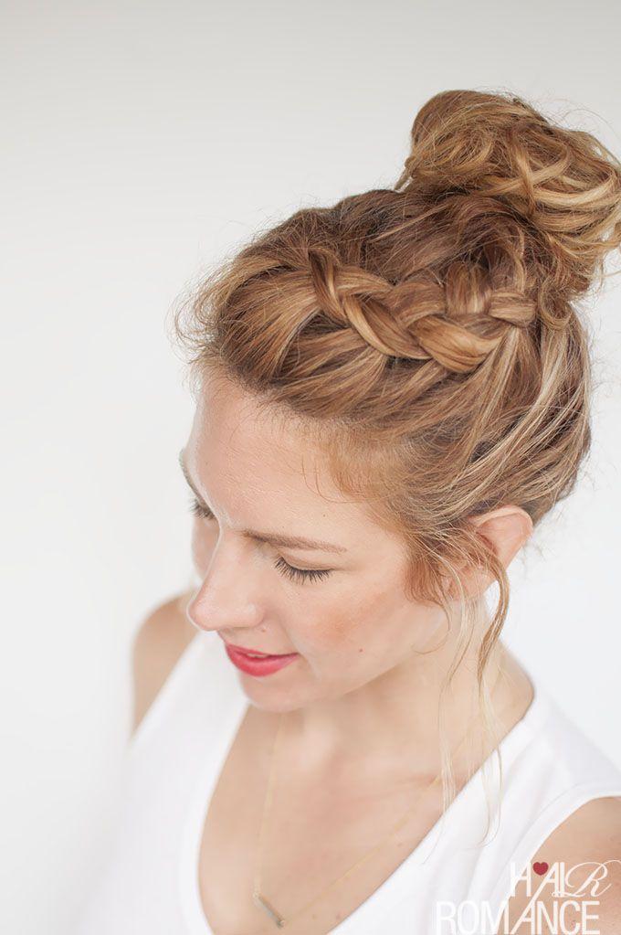 top knot hair tutorial