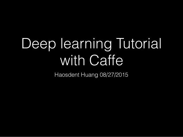 torch deep learning tutorial