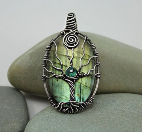 tree of life wire wrapped pendant tutorial