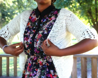 tutorial easy cardigan crochet in english