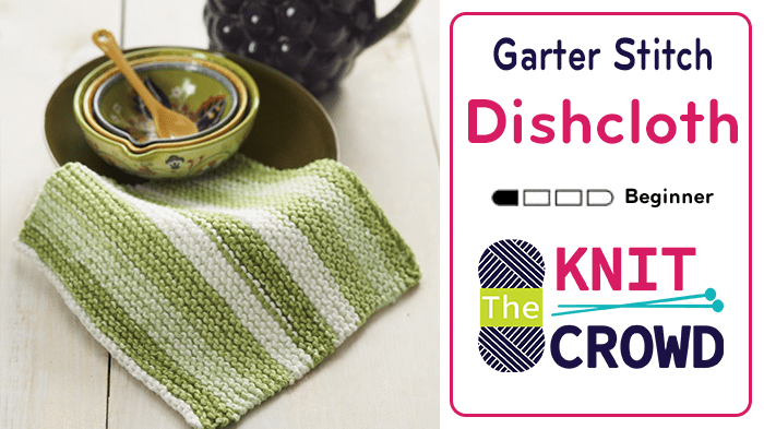 tutorial on how to knit a dishcloth