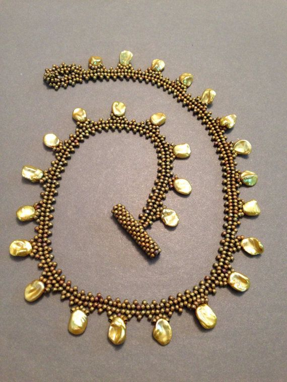 twisted pearl necklace tutorial