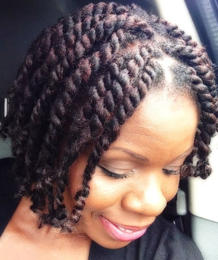 two strand twist with extensions tutorial