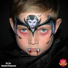 vampire face paint tutorial