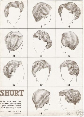 vintage hair tutorial short hair