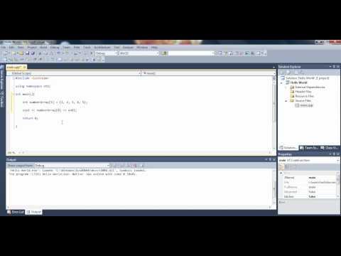 visual studio c++ tutorial