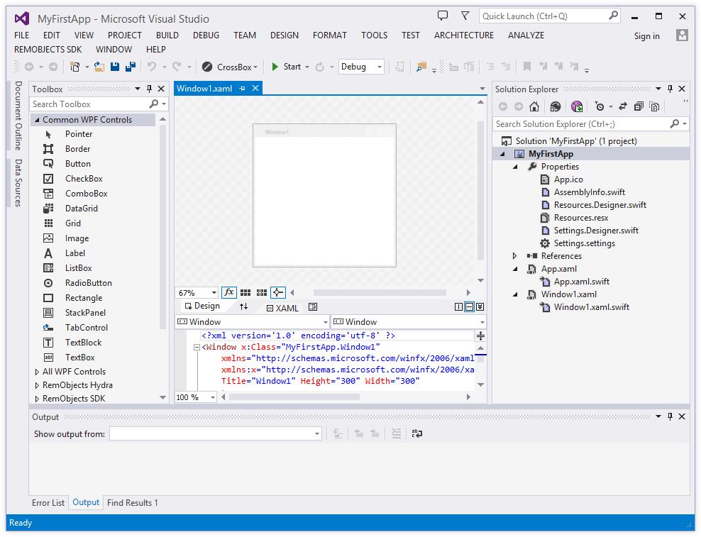 visual studio windows application tutorial
