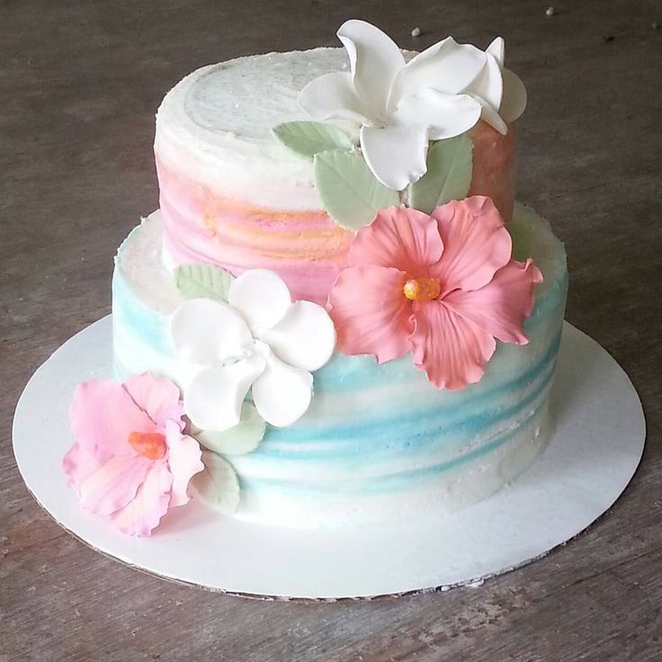 watercolor fondant cake tutorial