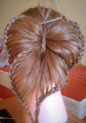 waterfall braid short hair tutorial