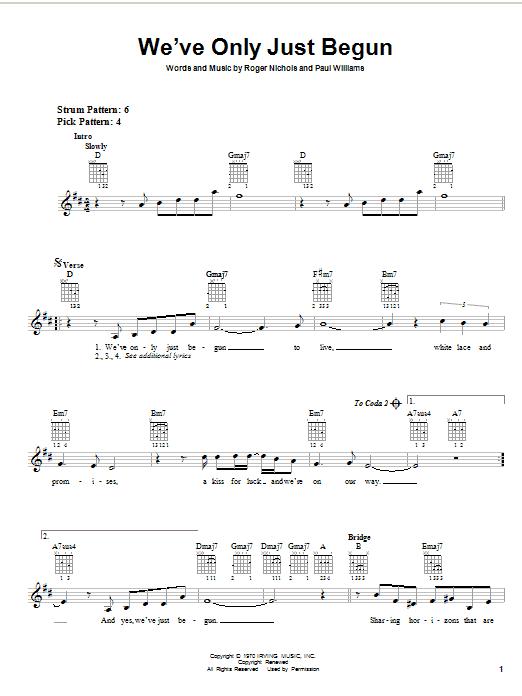 we ve only just begun piano tutorial