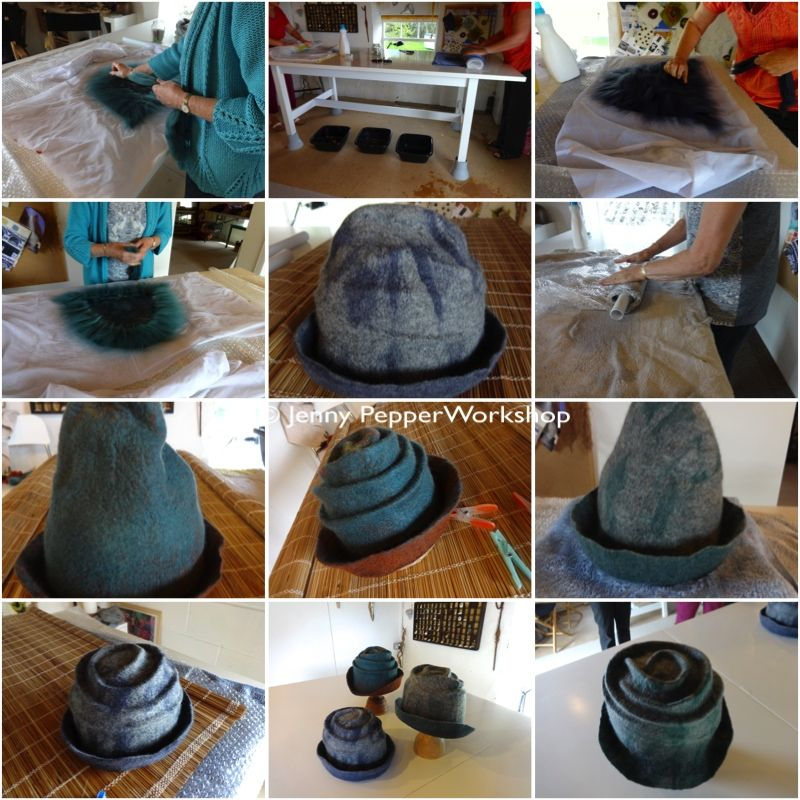 wet felting hat tutorial