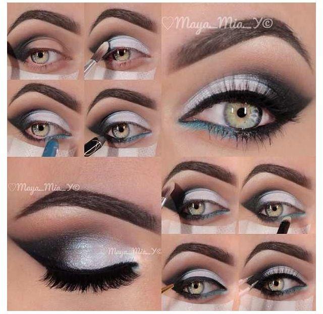 white eye makeup tutorial
