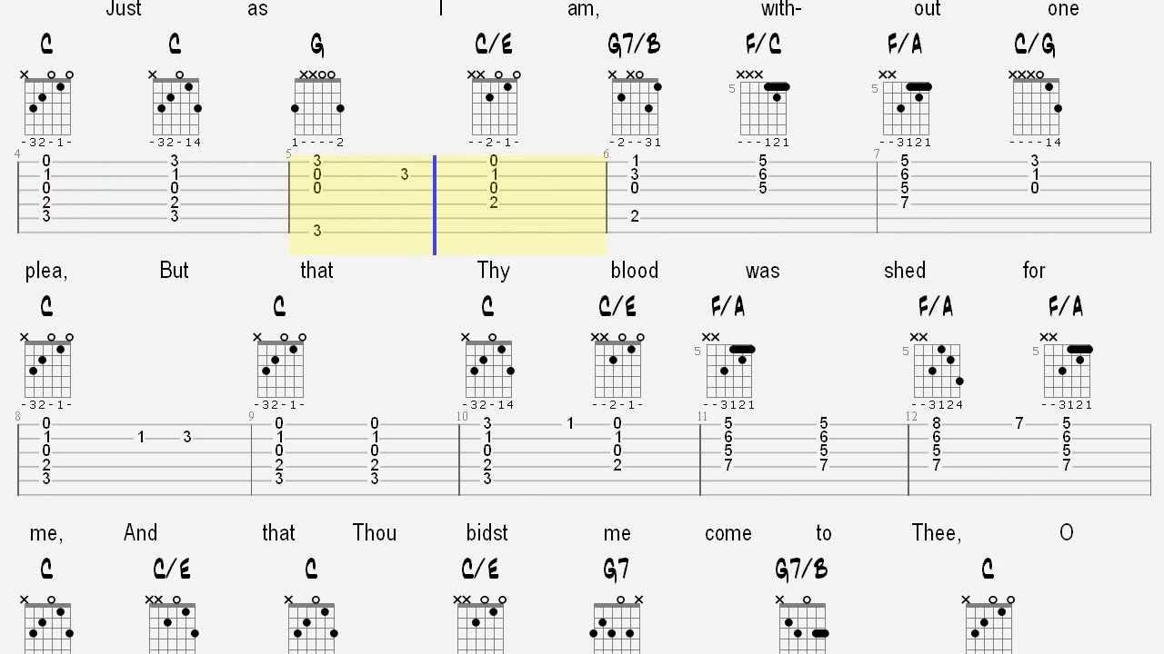 who am i guitar tutorial