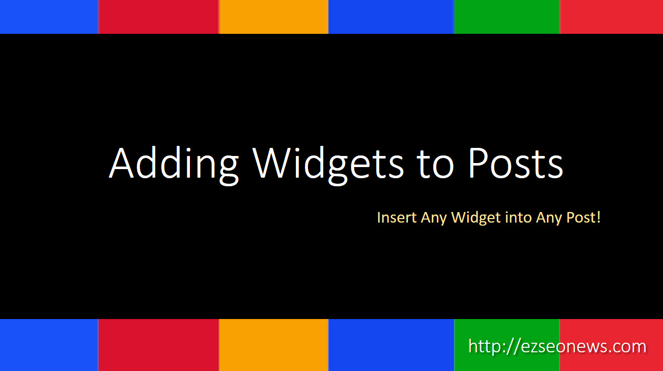 widgets on pages tutorial