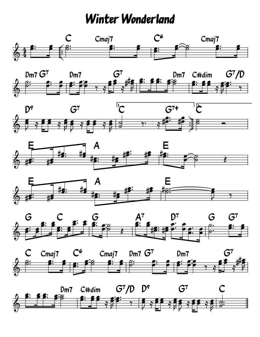 winter wonderland piano tutorial