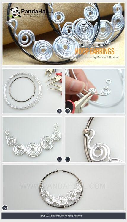 wire hoop earrings tutorial
