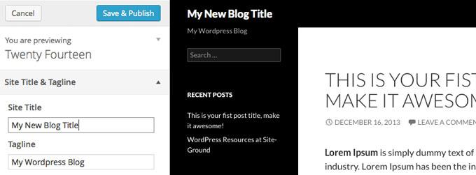 wordpress theme customization tutorial
