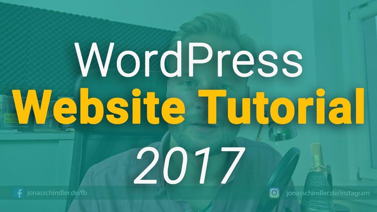 wordpress tutorial youtube 2017