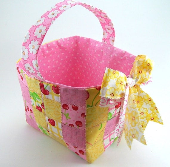 woven fabric basket tutorial