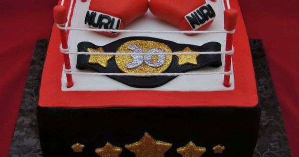 wrestling ring cake tutorial