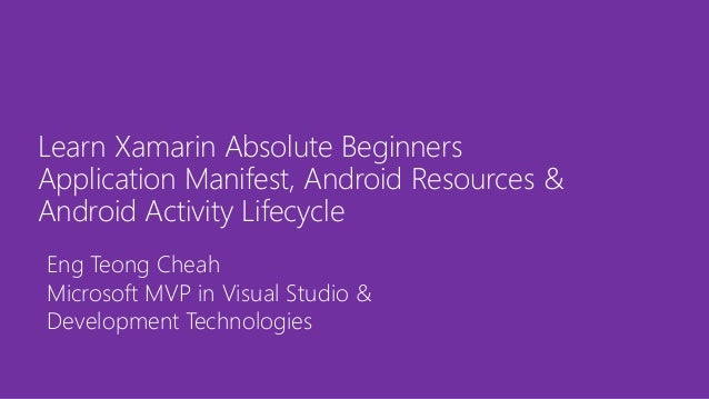 xamarin tutorial for beginners