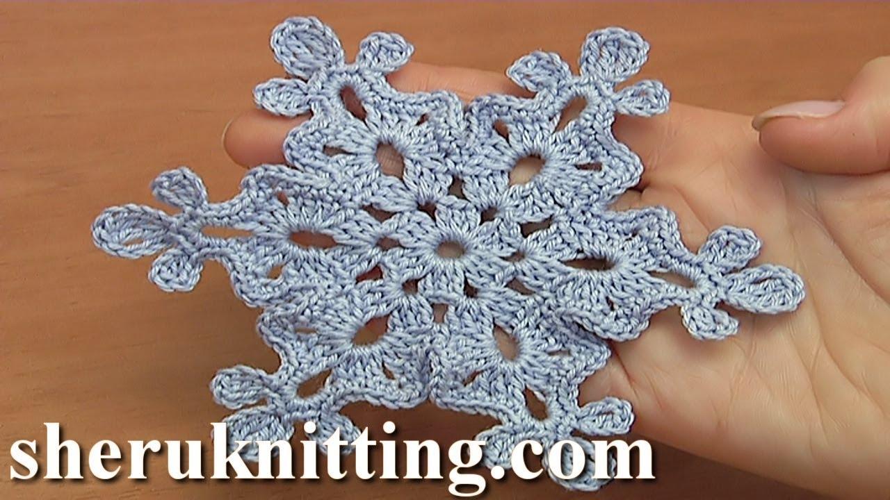 youtube crochet snowflake tutorial