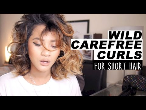 youtube short curly hair tutorial