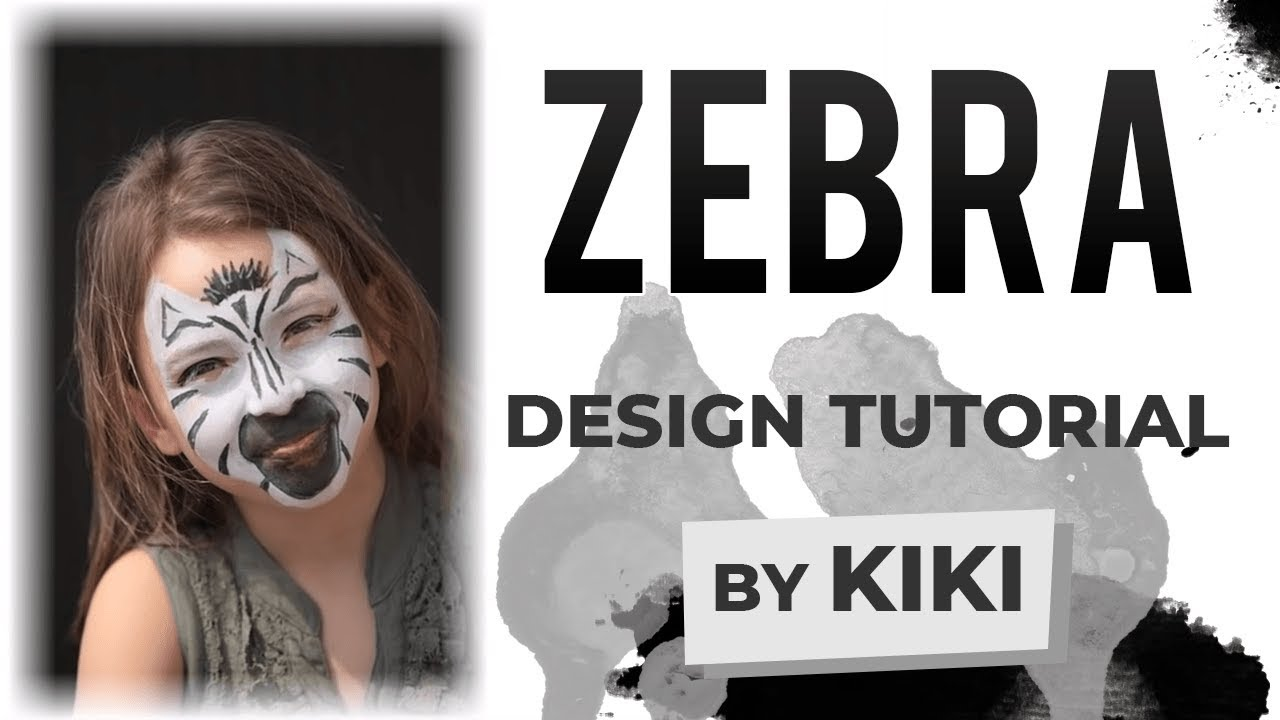 zebra face paint tutorial